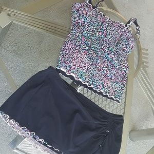 Profile tankini. Multi color set. Size 14